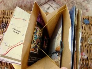 Inside Pockets of Paper Bag Journal