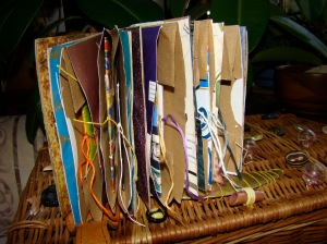 Inside Pages of Paper Bag Journal